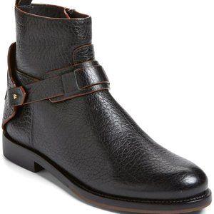 Tory Burch Derby Flat Bootie Black Leather Sz 7